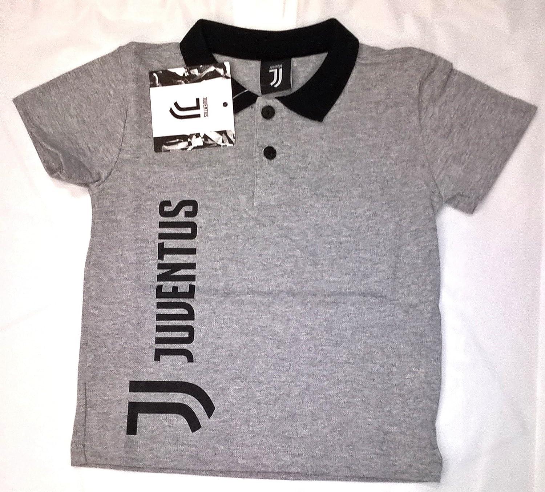 Polo camiseta Nuevo Logo Juventus producto oficial niño niño (gris ...