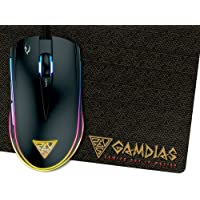 GAMDIAS ZEUS E1 Optical Gaming Mouse with Dual RGB Lighting & Mouse Mat