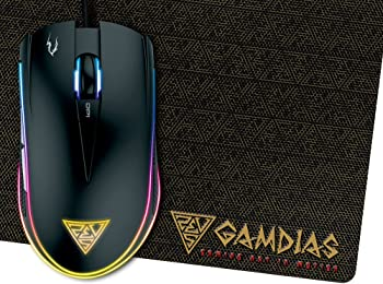 GAMDIAS ZEUS E1 Optical Gaming Mouse w/Dual RGB Lighting & Mat