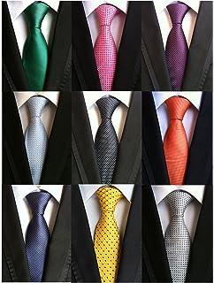 Amazon mudder 3 pieces mens ties bar clips silk tie bar set welen lot 9 pcs classic mens tie necktie woven jacquard neck ties ccuart Image collections