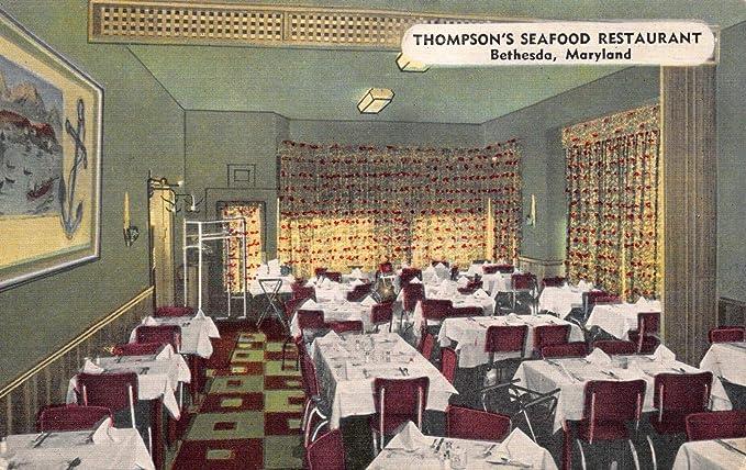 Amazon Com Linen Postcard Thompson S Seafood Restaurant In