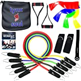 LYNXSOUL 16 PCS - Pro Series Exercise Resistance Band Set - THE MOST COMPLETE KIT - Highest Quality Materials. Handles, Tube and Loop Bands and Everything you Need to Workout at Gym, Home or Traveling