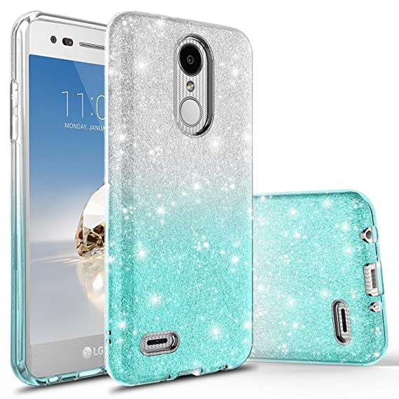 new style e8c8f bcbad LG Premier Pro LTE Case, LG K30 Case, LG K10 2018 Case With Tempered Glass  Screen Protector, Rosebono Fashinon Slim Shinning Sparkle Bling Glitter ...