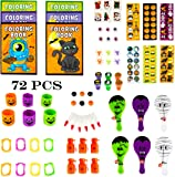 Halloween Toys Party Favors Mega Assorted Halloween Trick or Treat Bag Fillers, Halloween Toys and Novelties, Goody Bag Fillers, Pinata Fillers 72 Halloween Toy Assortment By Neliblu