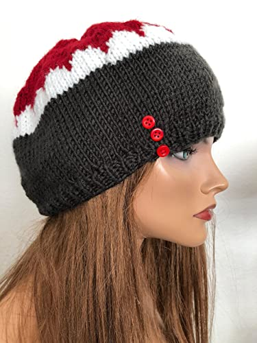 Years Handknitted Beret Beanie 2 Clothing, Shoes & Accessories
