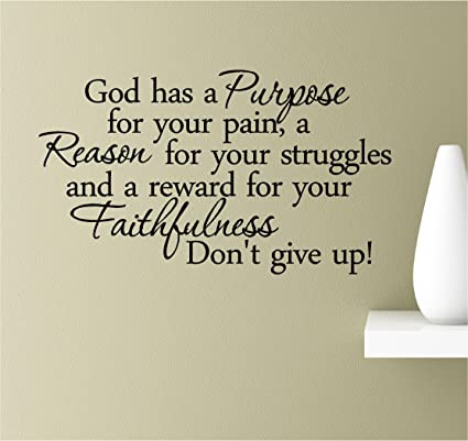 Amazon God Has A Purpose For Your Pain A Reason For Your Impressive Purpose Quotes