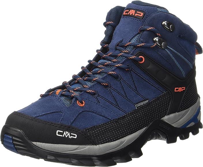 CMP trekking zapato wanderschuh Heka cuero verde con cordones waterproof