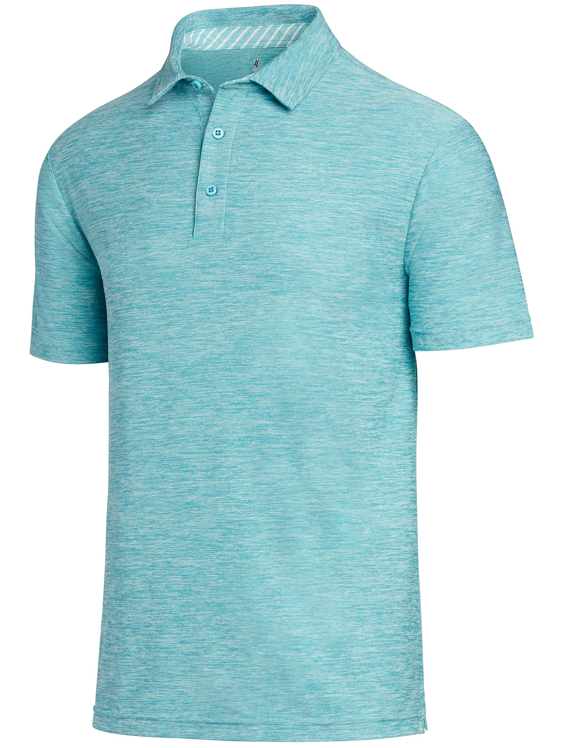 f661c9a3 Galleon - Jolt Gear Golf Shirts For Men - Dry Fit Short-Sleeve Polo,  Athletic Casual Collared T-Shirt Turquoise