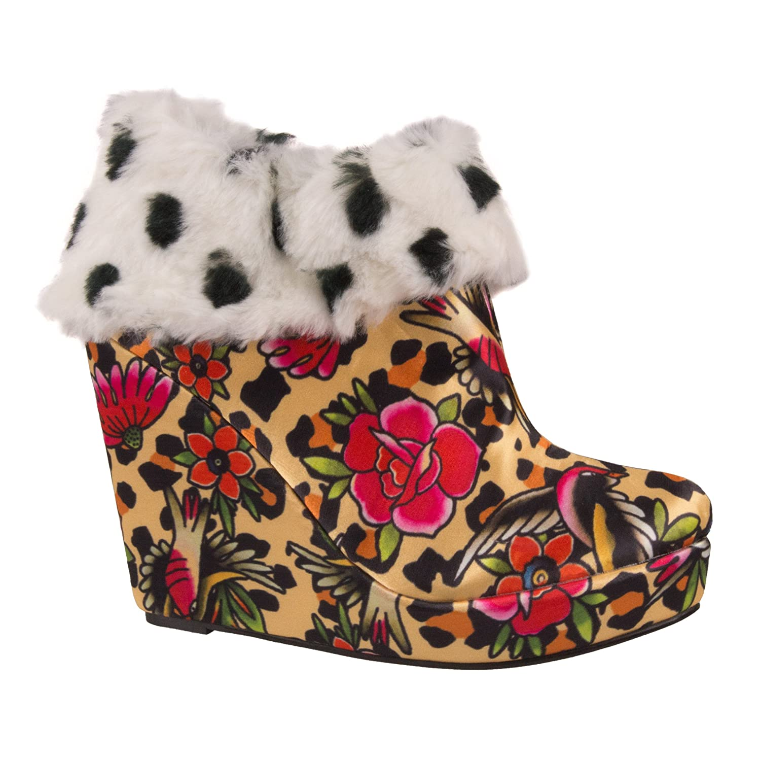 Iron Fist Fist Fist Ankle Stiefel LOUNGE DAYS WEDGE leopard 025cd0