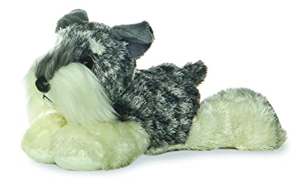 Aurora World Stein the Schnauzer Mini Flopsie Soft and Snuggly Plush Stuffed Animal Small