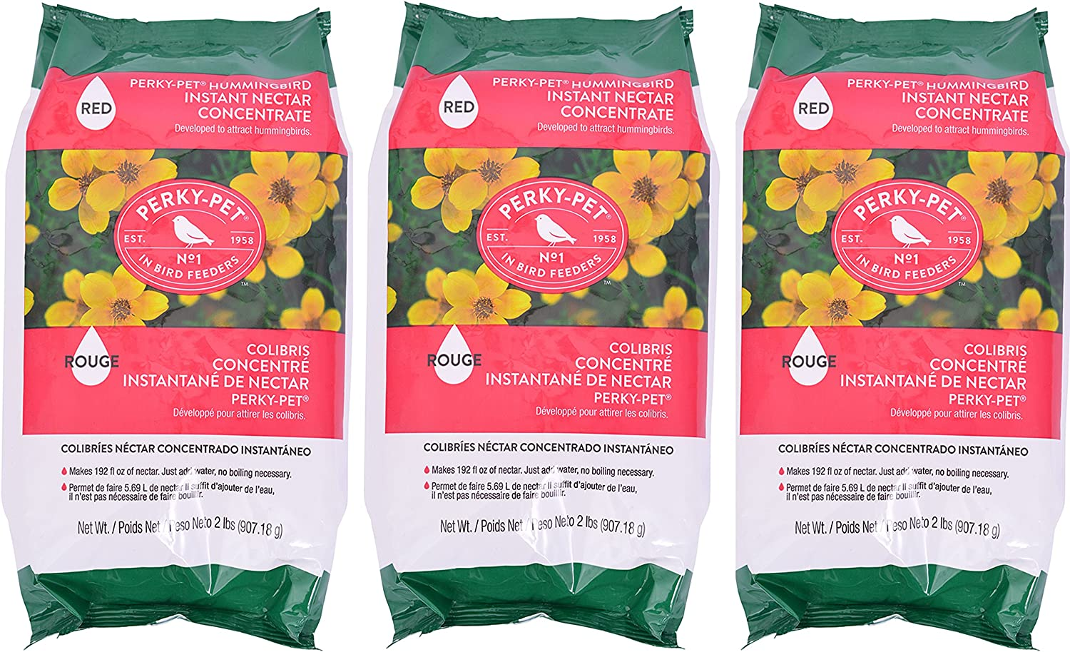 Perky-Pet 244Sfb 2 lb Red Instant Nectar - 3 Pack