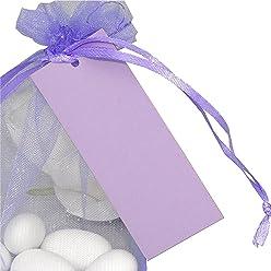 EinsSein 50x Geschenkanhänger Basic Geschenkkärtchen Tischkarten Hochzeit Party