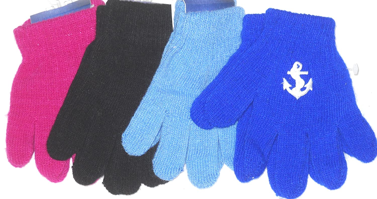 Set of Four Pairs Magic Gloves for Ages 1-4 Years