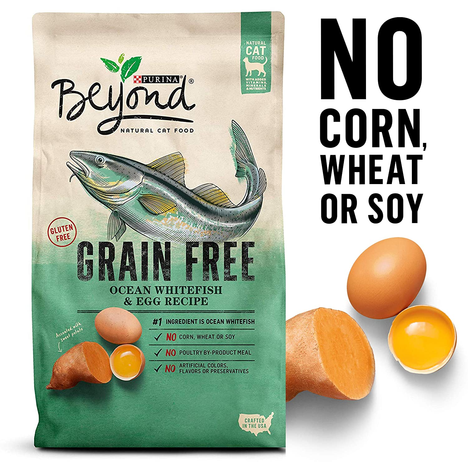 Purina Beyond Natural Dry Cat Food, Grain Free, Ocean Whitefish And Egg Recipe, 3-Pound Bag, Pack Of 1