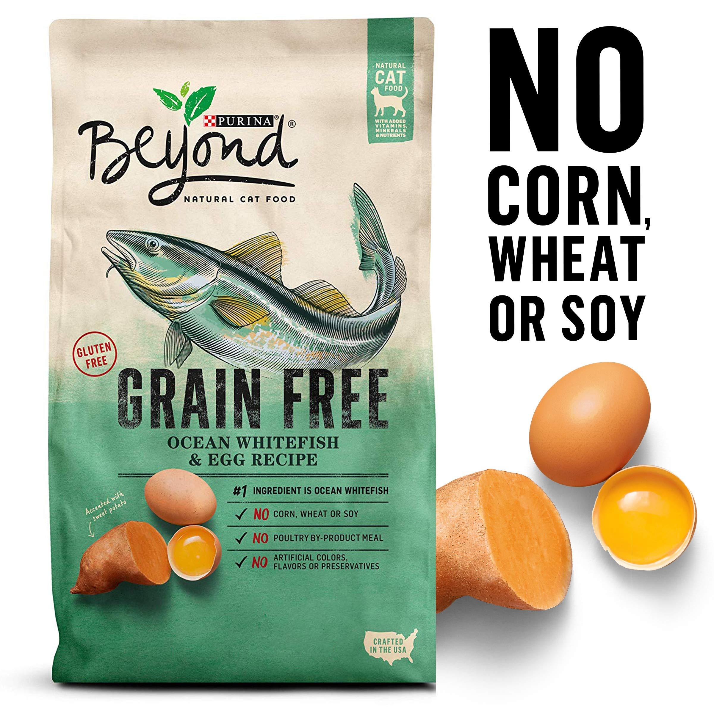 Purina Beyond Grain Free, Natural Dry Cat Food; Grain Free Ocean Whitefish & Egg Recipe - 11 lb. Bag