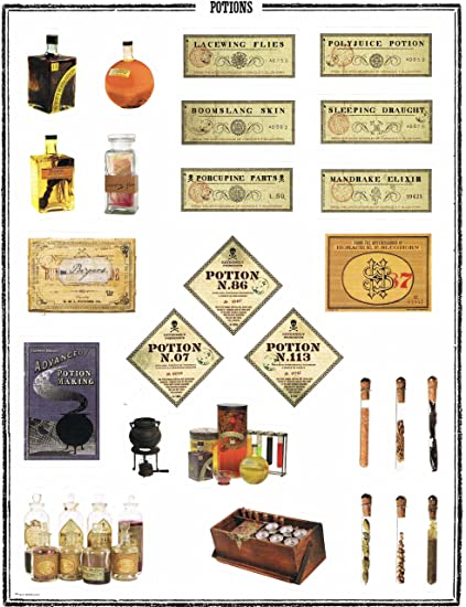 picture about Harry Potter Potion Book Printable named Harry Potter Entire Sheet Stickers\