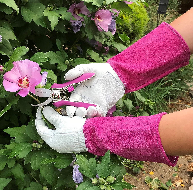 Petal Power S/écateur de Jardin pour Femme avec Deux Lames tranchantes Rose Violet