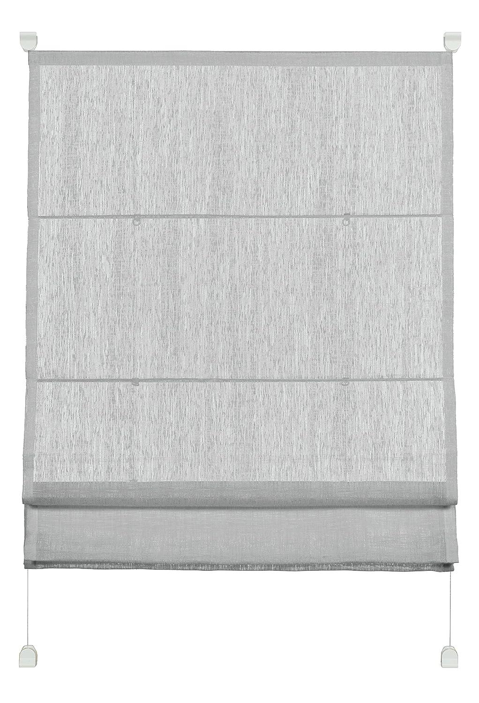 Gardinia EasyFix Transparent Roman Shade, White, 50 x 140 cm 33920