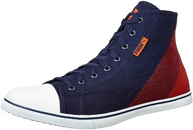Men s Streetballer Mid Geo Dp Peacoat Grenadine White Sneakers - 11  UK India (46 68c4ad432
