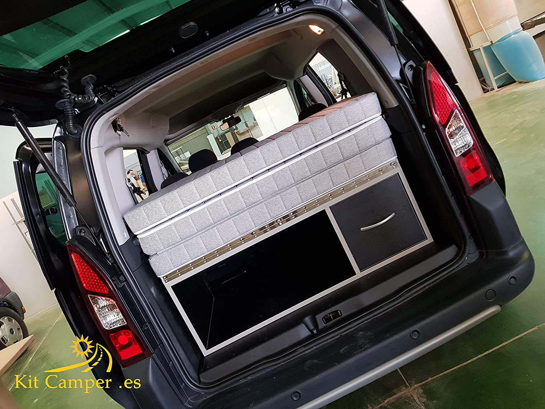 Mueble Kit Camper con colchón para Berlingo, Partner (negro ...