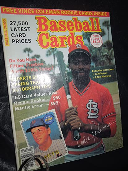 Amazoncom Baseball Cards April 1986 Issue 15 Volume 6