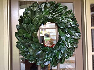 Flora Decor Preserved Magnolia Wreath XXL 31