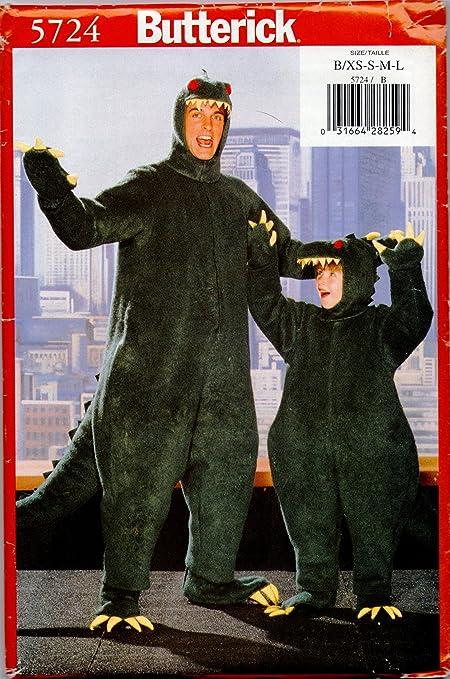 Amazon Butterick 5724 Sewing Pattern Dinosaur Costume Size B