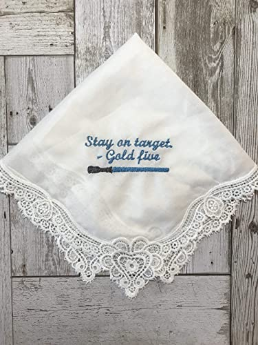 Lace Hankie Colored Handkerchief Personalized Wedding Handkerchie Embroidered Handkerchief Bridal Handkerchief Custom Handkerchief