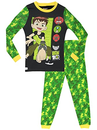 426206c0a3 Ben 10 Boys Pyjamas - Snuggle Fit - Ages 4 To 12 Years  Amazon.co.uk   Clothing