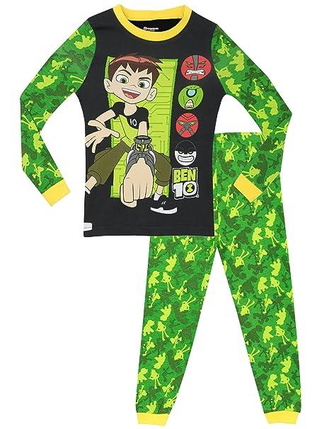 Ben 10 - Pijama para Niños - Ben 10 - Ajuste Ceñido - 10 - 11