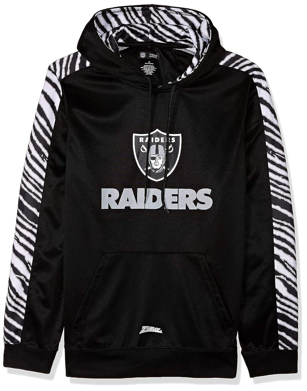 Team Color Medium NFL Mens Zubaz Oakland Raiders Pullover Hoodie