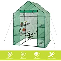 Gosunny 4-Anchors Include Walk in Greenhouse, Green(56″ W x 56