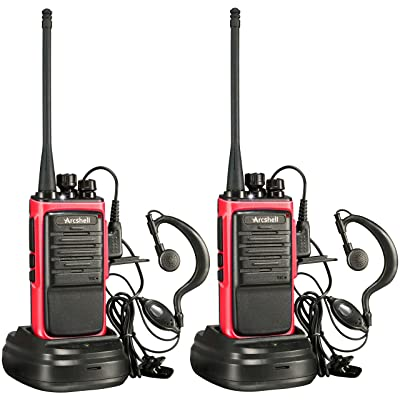 Arcshell Rechargeable Long Range Two-Way Radios with Earpiece 2 Pack Walkie Talkies UHF 400-470Mhz Li-ion Battery and Charger Included: Car Electronics