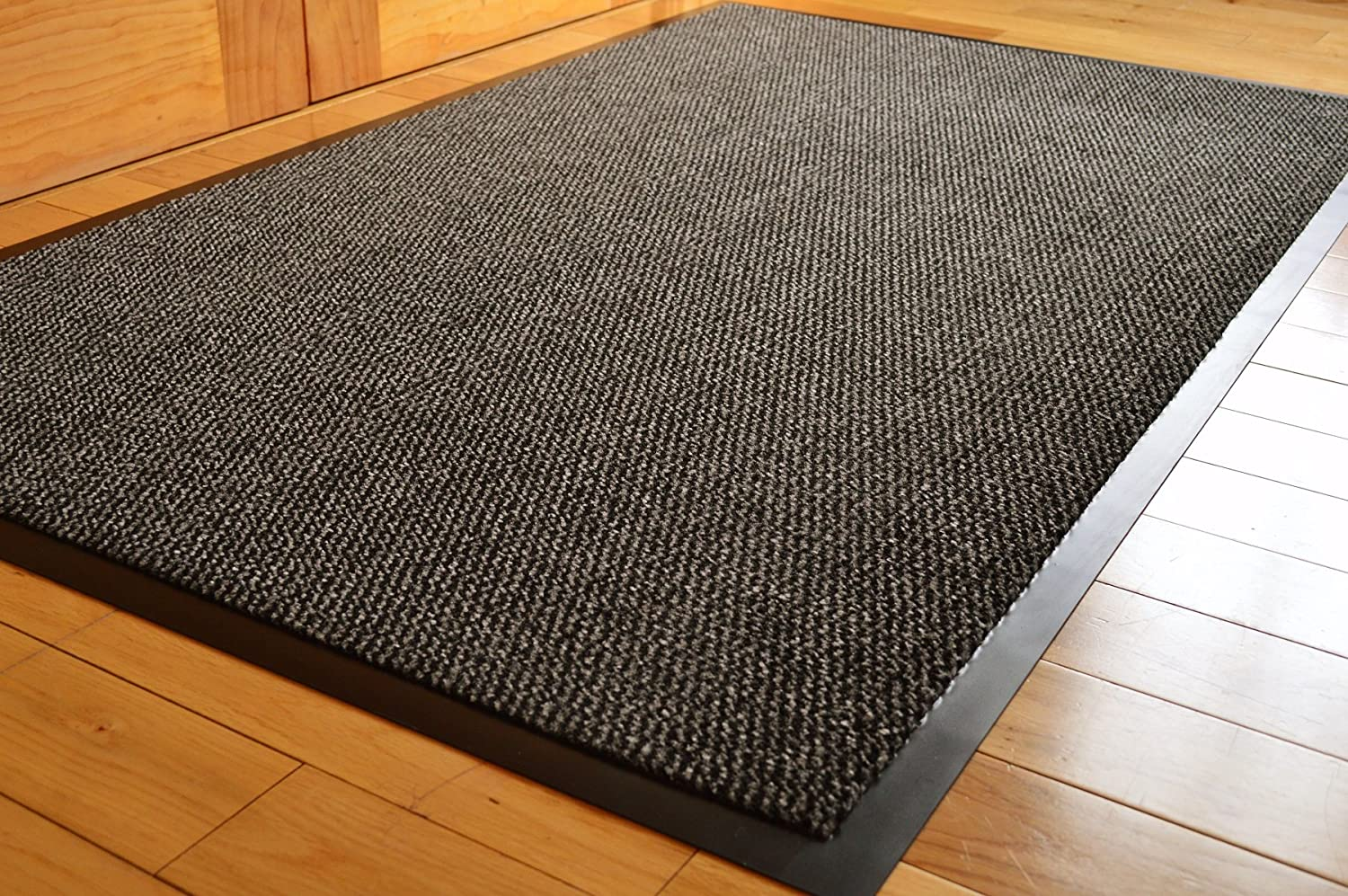 amazoncouk doormats  home accessories home  kitchen - big extra large grey and black barrier mat rubber edged heavy duty non slipkitchen entrance hall runner rug mats xcm (xft)