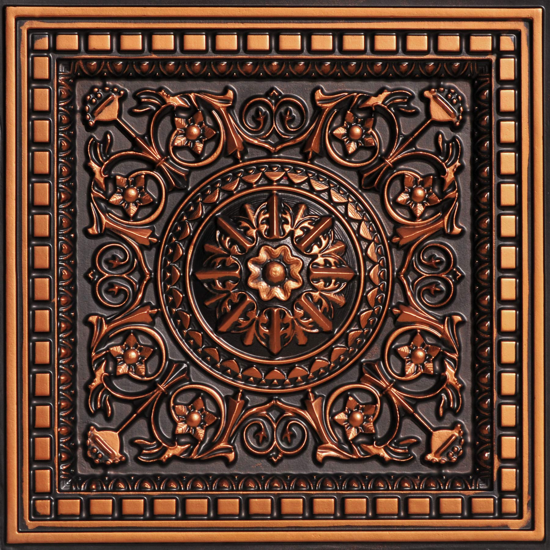 From Plain To Beautiful In Hours 215ac-24x24 Ceiling Tile Antique Copper