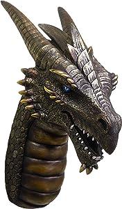 World of Wonders Ancient Guardians Artanis Dragon Bust | Room Decor | Home Decor | Dragon Decor | Dragon Figurines | Dragon Statue | Goth Room Decor -5