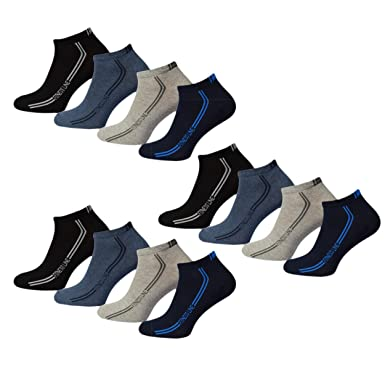 6ac65ec7bf 12 Paar Herren Premium Sneaker Socken Quatersocks Sportsocken mit  Komfortbund im Sport Design 39-42