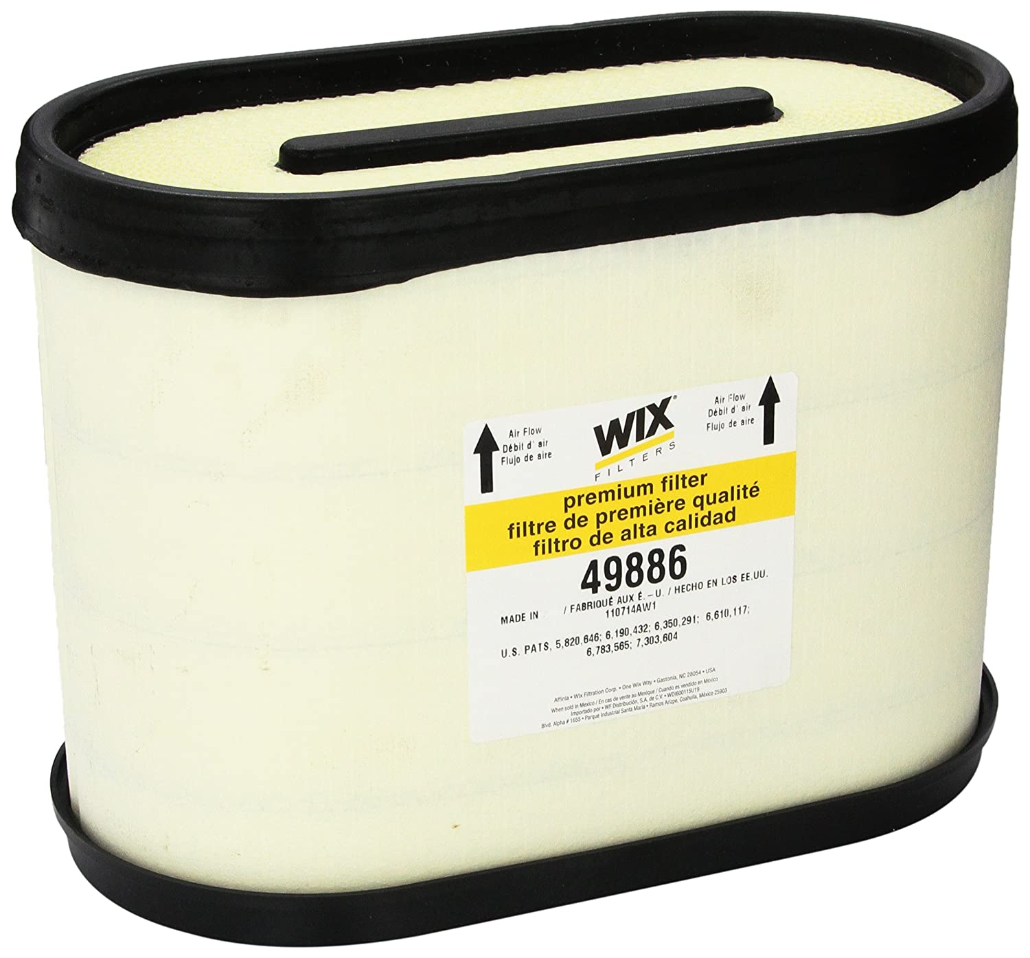 WIX Filters - 49886 Heavy Duty Corrugated Style Air Filter, Pack of 1