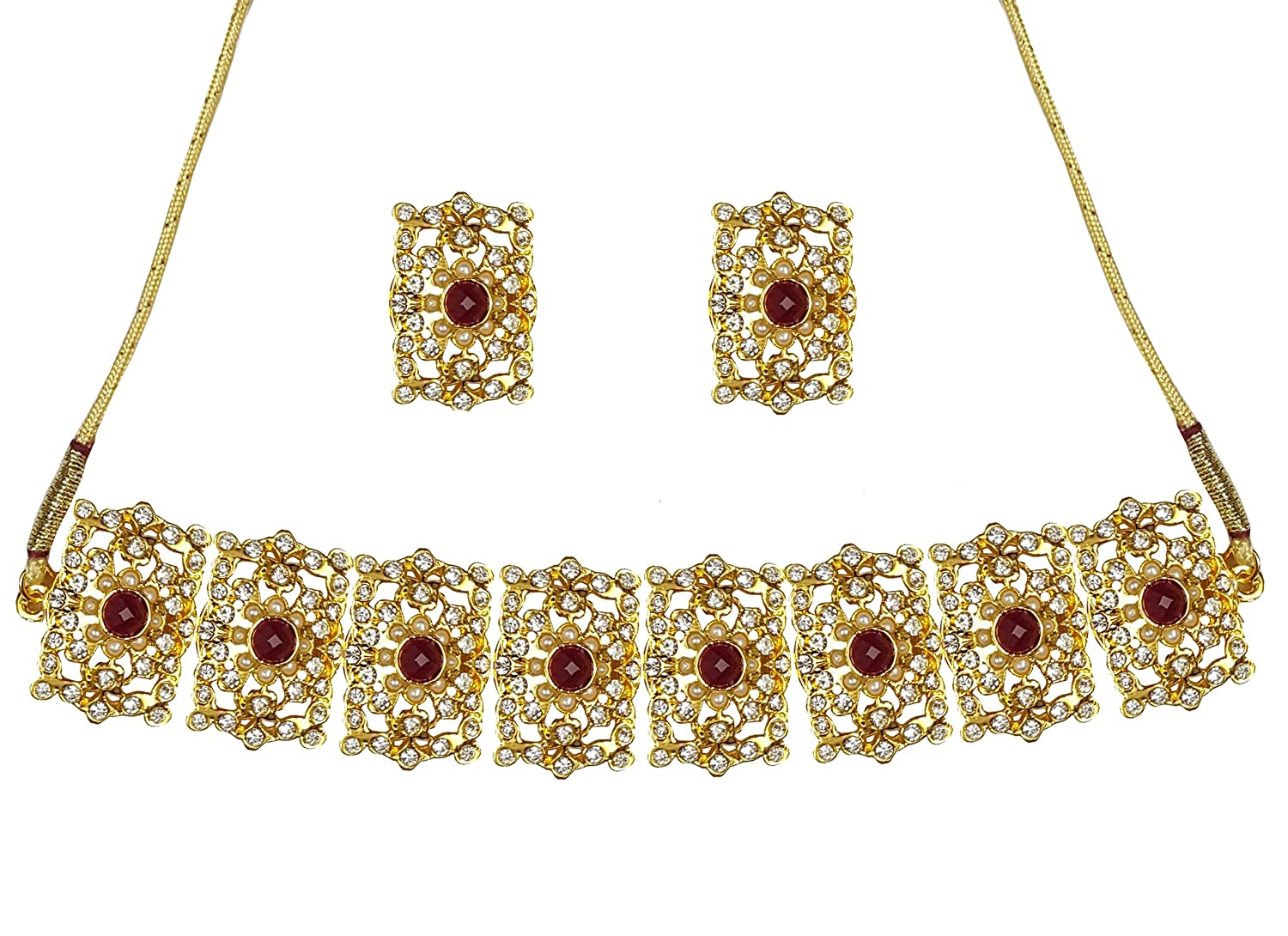 YouBella Golden Alloy Necklace Mughal Era Traditional