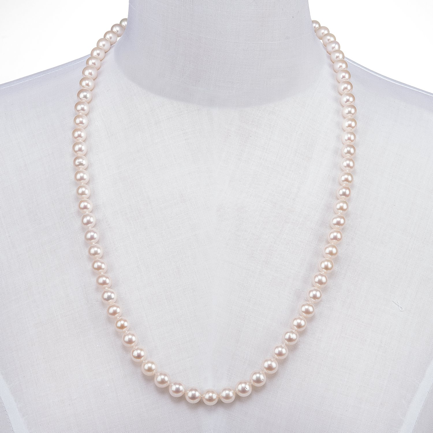 PAVOI Handpicked Freshwater Cultured Pearl Necklace Strand – High Luster White