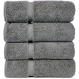 Luxury Hotel & Spa Bath Towel Turkish Cotton, Set of 4 (Gray)