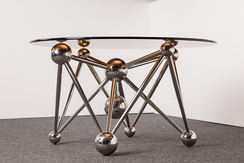 Amazon Com Atomium Glass Coffee Table Round Glass Coffee Table