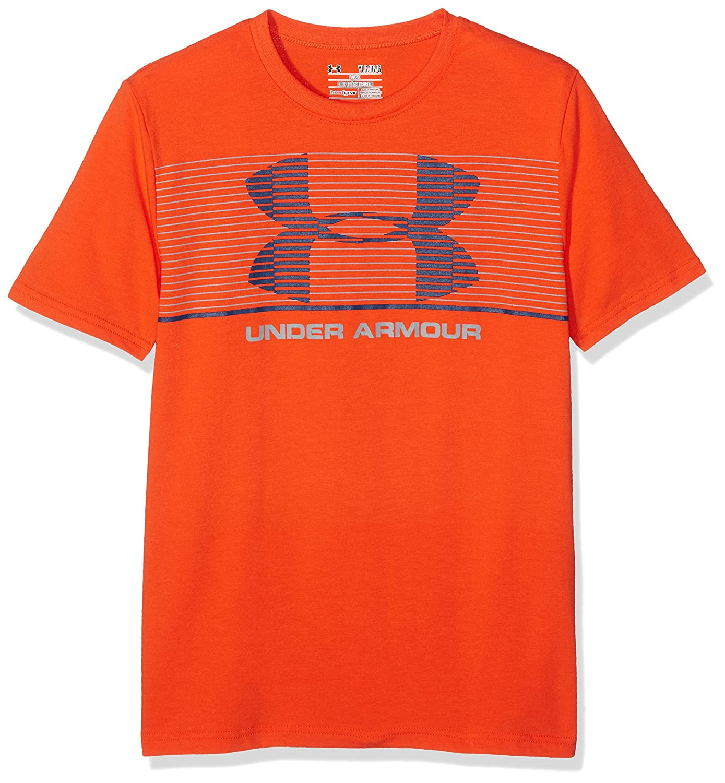 Under Armour Boys Chest Stripe T Short-Sleeve Shirt