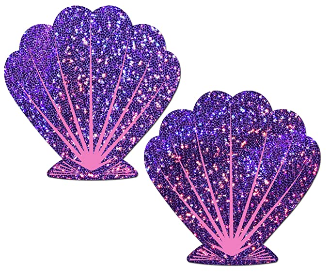 39f1838a98842e Glittering Purple and Pink Mermaid Seashell Nipple Pasties by Pastease o s