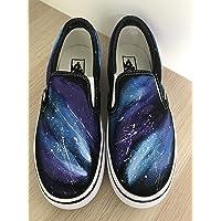 7a68df7301 Galaxy Vans Slipon Custom Galaxy Shoes Vans Custom Hand Painted Shoes Hand  Painted Vans Slipon Custom