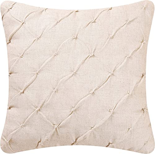 C F Home Diamond Tuck Cream Feather Down Pillow 18 x 18 Off-White