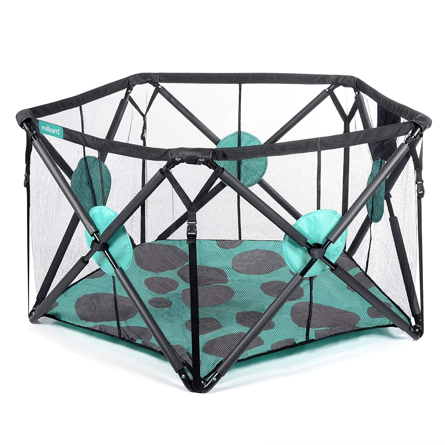 Milliard Playpen Portable Playard with Cushioning for Safety, for Travel, Indoor and Outdoor Play Yard Pen Large