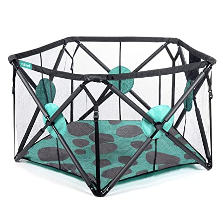 Milliard Playpen Portable Playard with Extra Cushioning for Safety, for Travel, Indoor and Outdoor Play Yard 48 x 27.5