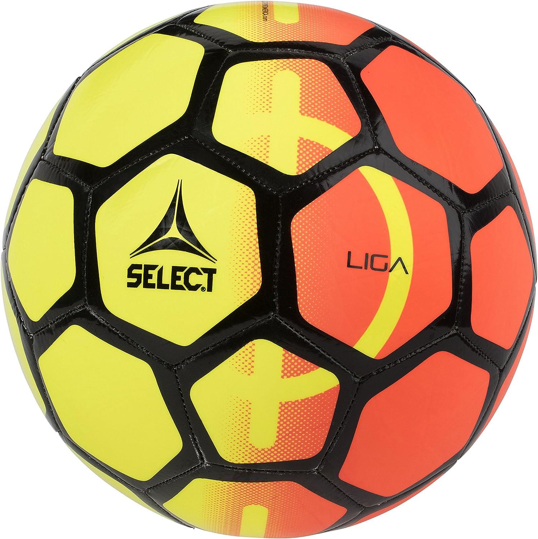 SELECT Seleccione Liga – Balón de fútbol – tamaño Liga – Balón de fútbol, Color Naranja/Amarillo, 4: Amazon.es: Deportes y aire libre