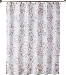 SKL Home by Saturday Knight Ltd. Ariel Medallion Shower Curtain, Coral Pink